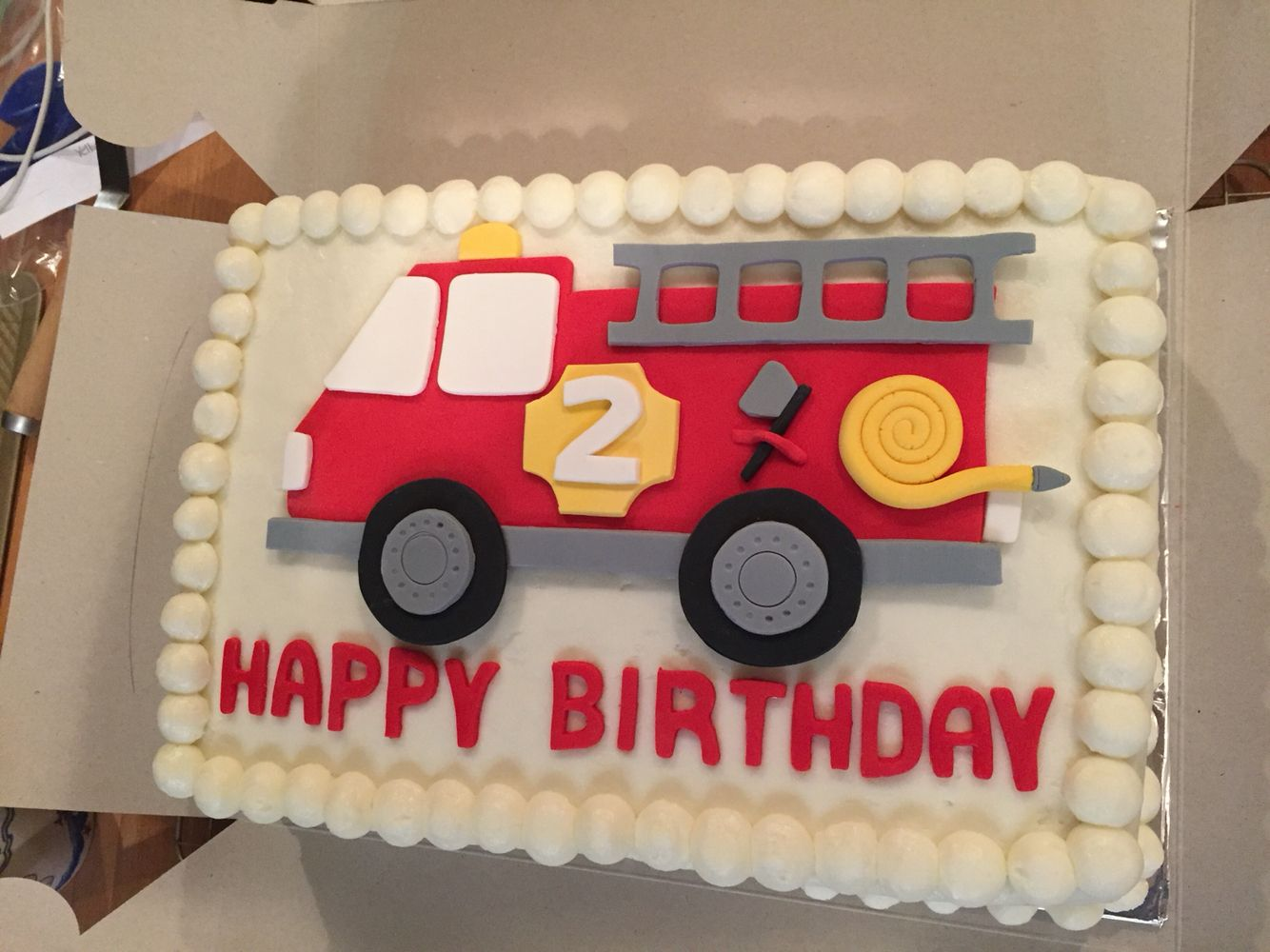 Fire Truck Birthday Cake Toppers