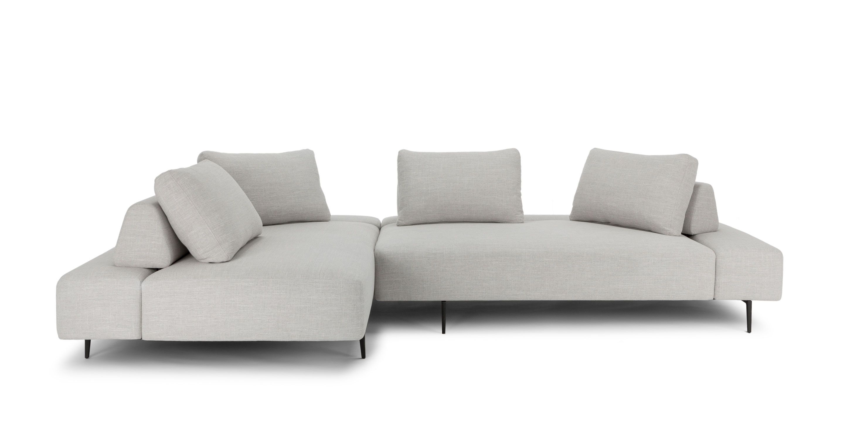 Light Grey Modern Sectional Upholstered