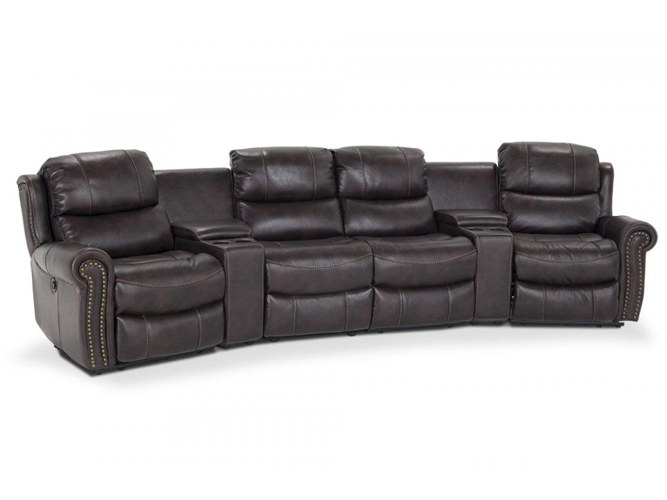 Lannister 6 Piece Home Theater Sectional Sectional Home Theater