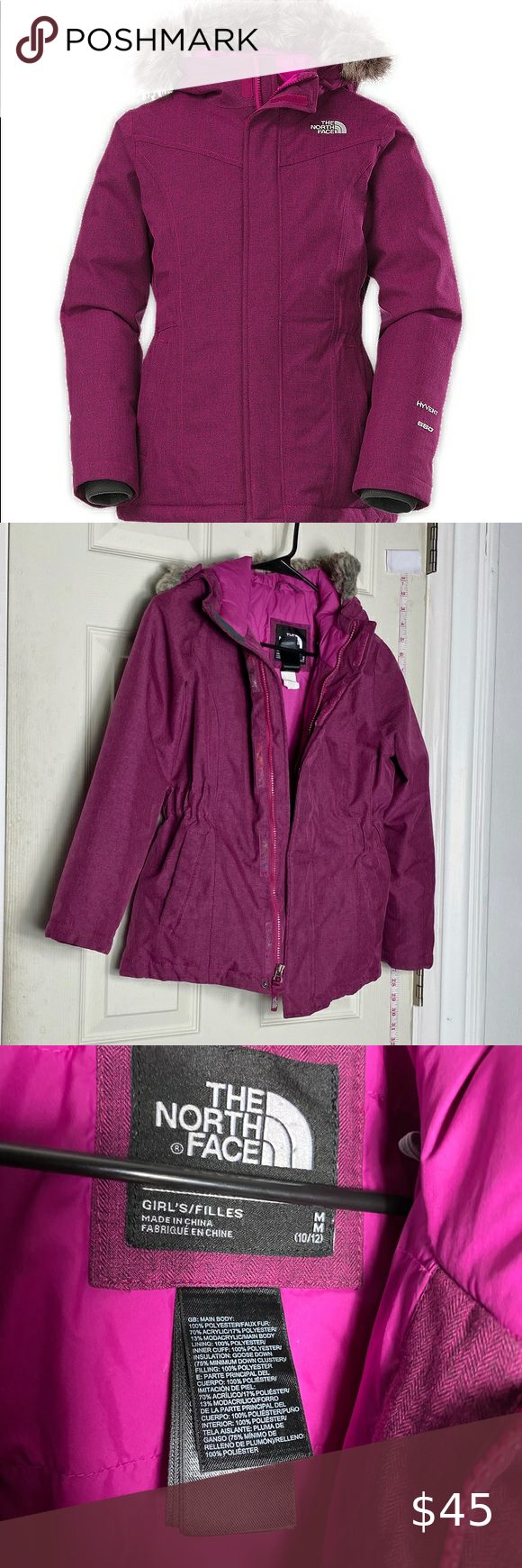 The North Face Purple Girls 10 12 Parka Jacket Jackets Parka Jacket Girls Jacket [ 1740 x 580 Pixel ]