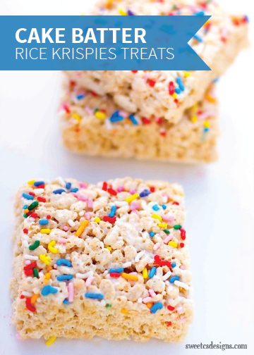 Why choose between cake and Rice Krispies Treats® when you can have both? Throw in rainbow sprinkles and you've got a tasty, kid-friendly dessert that's perfect for any party.