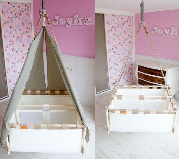 berceau suspendu jumeaux | chambre bébés jumeaux mixtes | Pinterest ...