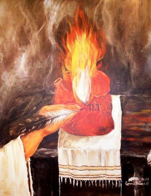 """Tattooed Heart on the Altar"""" This is taken from the scripture where the  Lord has our names tattooed in the palm of His h… 