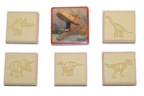 6 tlg. Set Stempel und Stempelkissen aus Holz - Dinosaurier - Bastelset Malen Stifte basteln Stempelset Dino Unbekannt http://www.amazon.de/dp/B0080IRKSY/ref=cm_sw_r_pi_dp_DVwMwb1HRG3D5