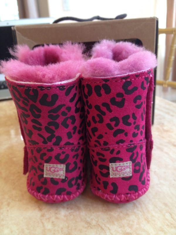 Baby Infant Toddler Ugg Cassie Leopard Pink Magenta Color