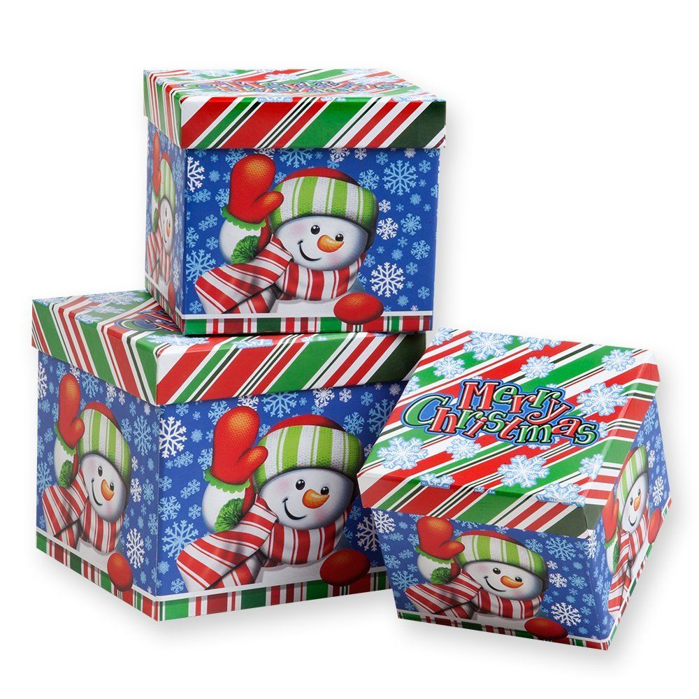 3 piece holiday nesting boxes nesting gift boxes