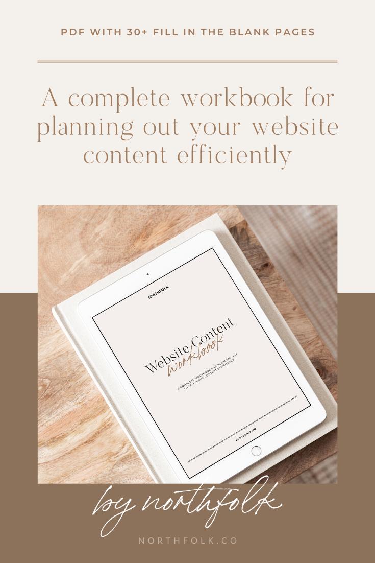 Website Content Workbook Digital Download In 2020 Website Content Workbook How To Plan