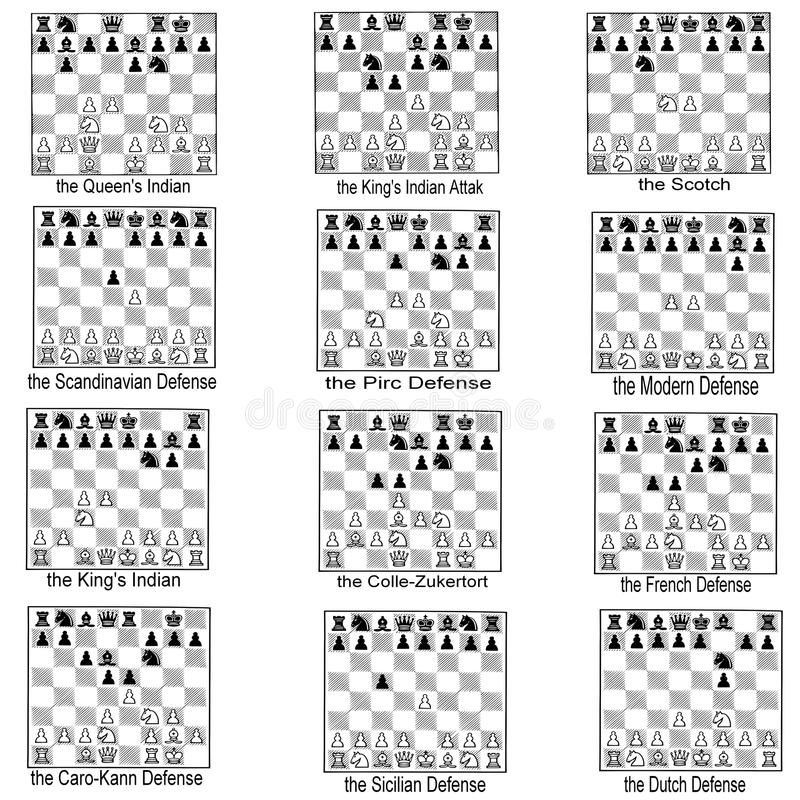 Photo About Illustration Describes A Collection Of Some Openings Chess Popular At This Moment The End Of These Schem Chess Strategies Chess Tricks Chess Moves