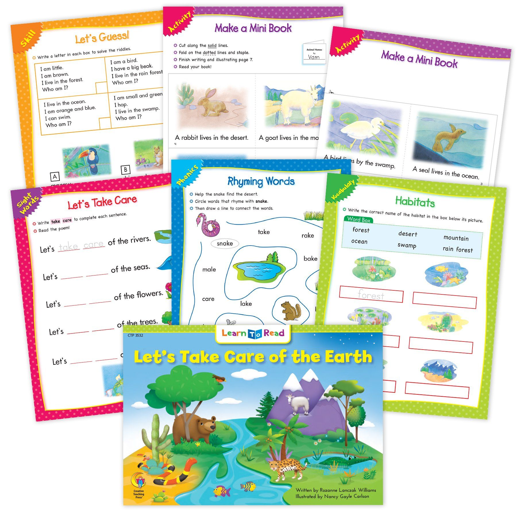 Let S Take Care Of The Earth Ebook Amp Worksheets In