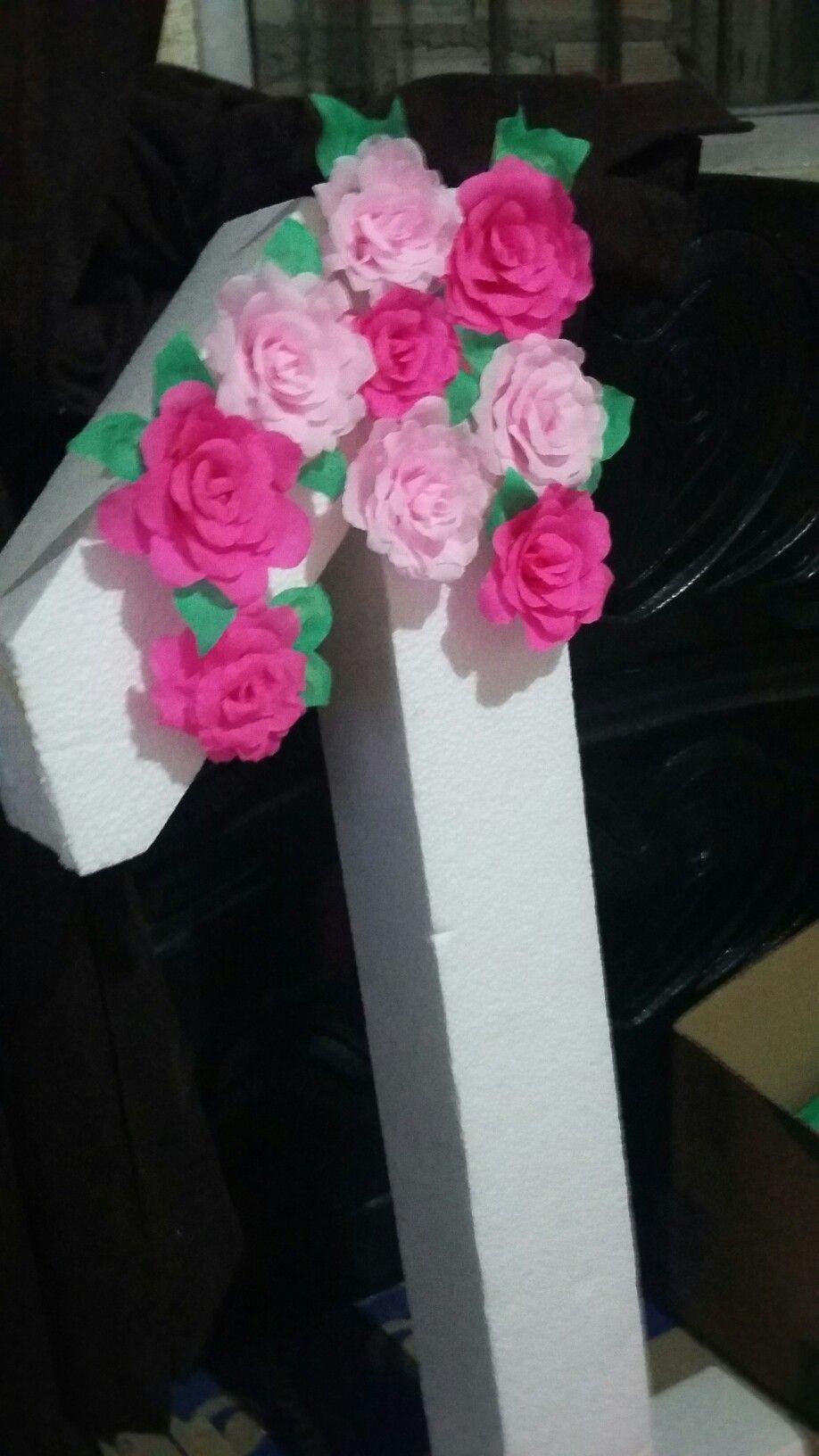 Número 1 Decorado Com Flores De Papel Crepom Flores De