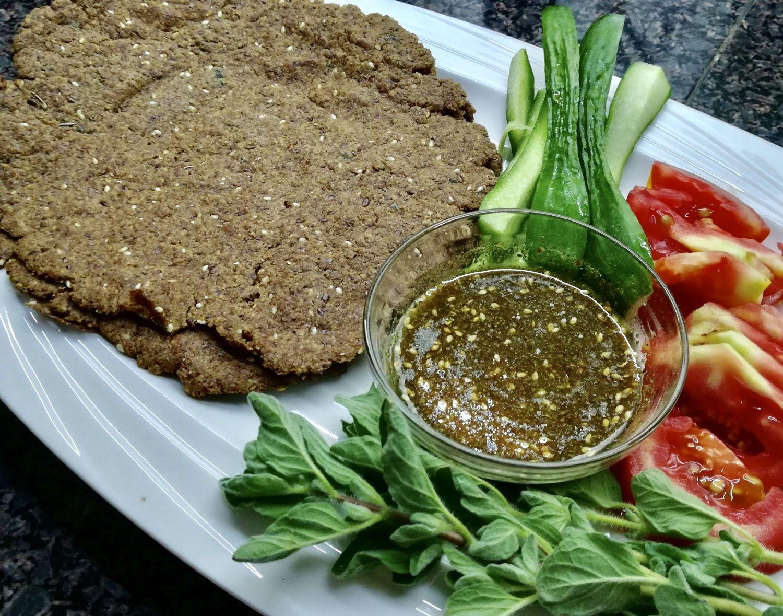 Flaxseed meal and chickpea flour bread wraps. Vegan, keto, gluten free #flaxseedmealrecipes