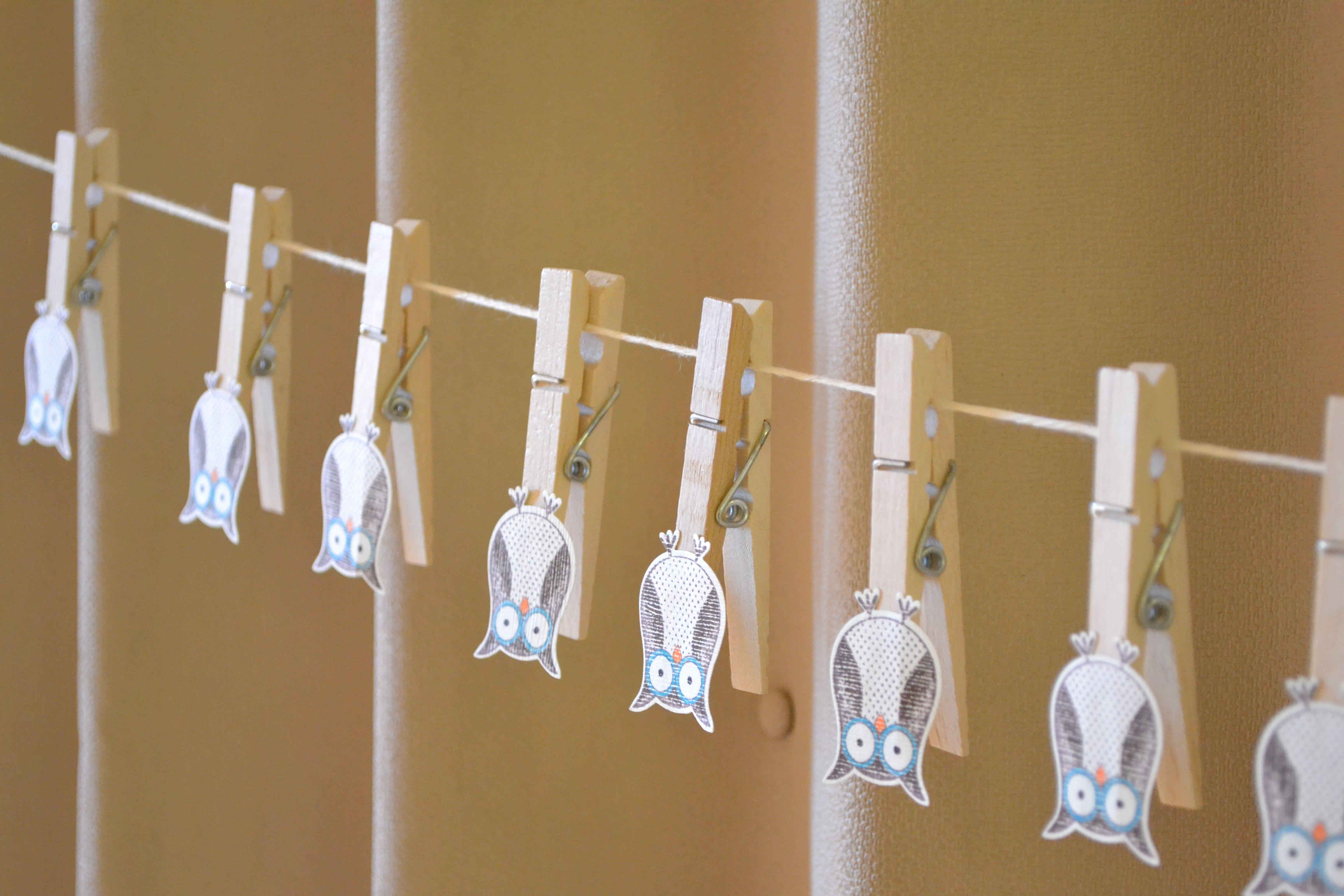Amusing Baby Shower Owl Themed For Hanger Clothingline