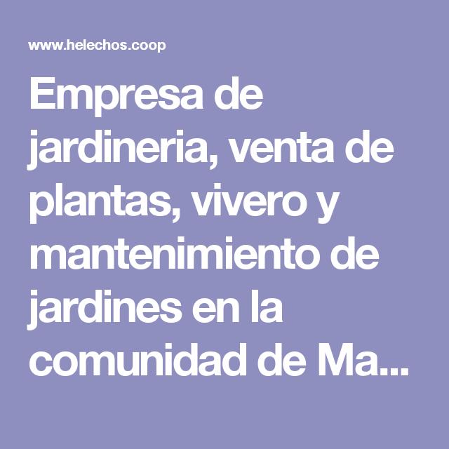 Empresa de jardineria venta de plantas vivero y - Centros de jardineria madrid ...