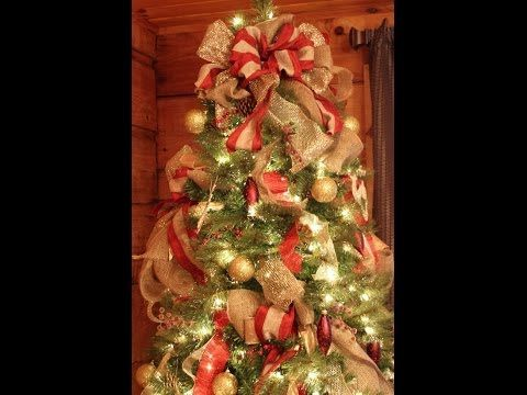 how to decorate a wonderful christmas tree very easy diy youtube