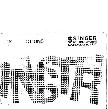 Link to Singer 313 Cardmatic knitting machine manual part 1