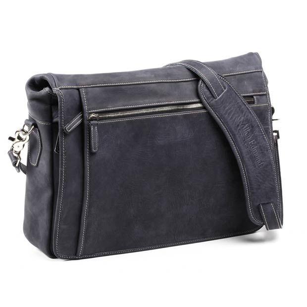 Allen Edmonds Neumok Messenger Bag 98244A Navy Distressed Leather