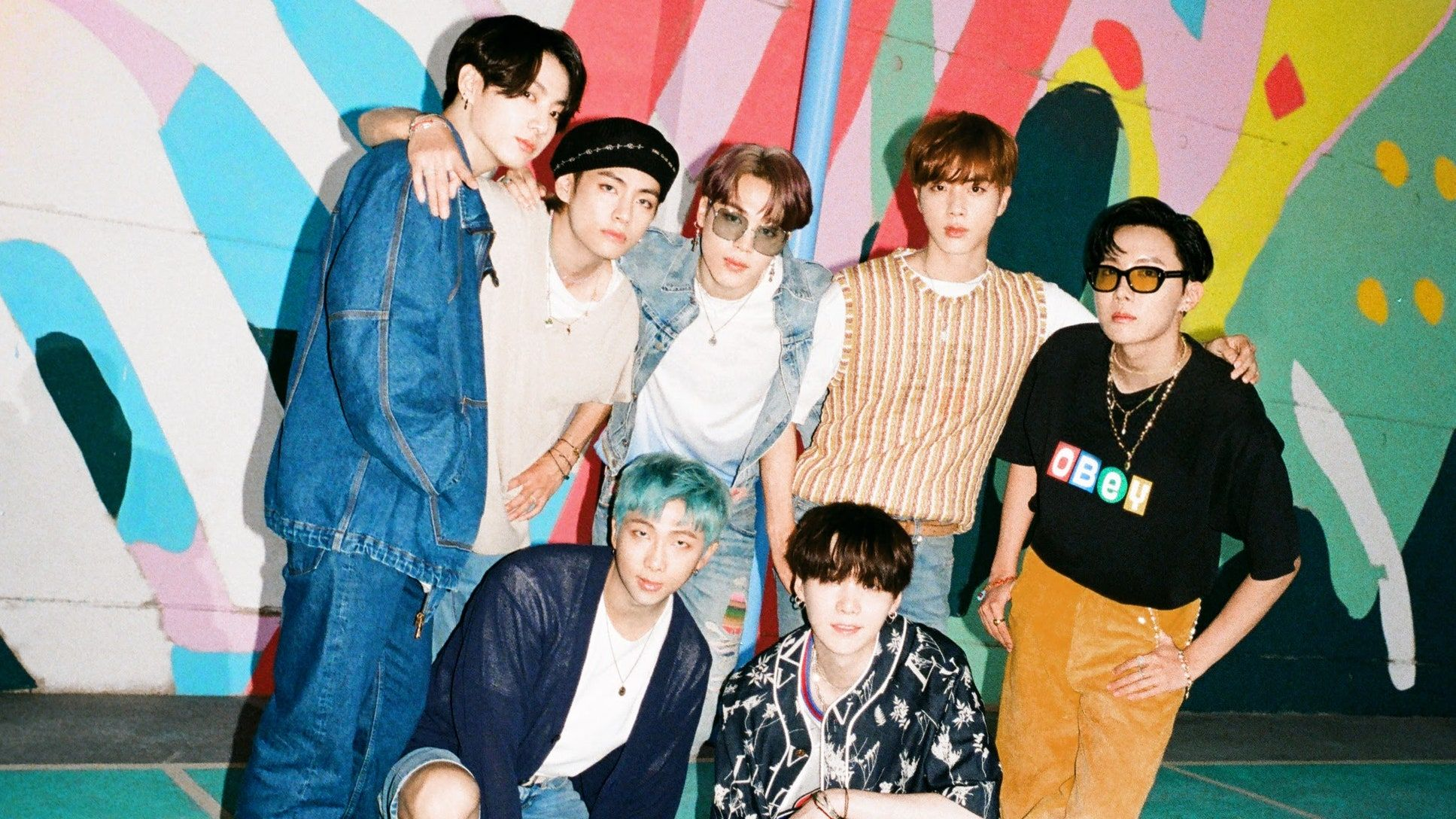 The First Group Photo For Bts S Dynamite Has Arrived Bts Group Photos Bts Group Picture Bts Group Bts wallpaper desktop dynamite