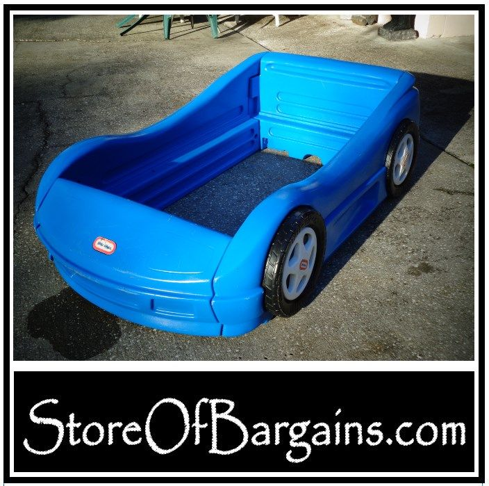 Blue Little Tikes Toddler Kid Race Car Bed   Used   Plant City, FL