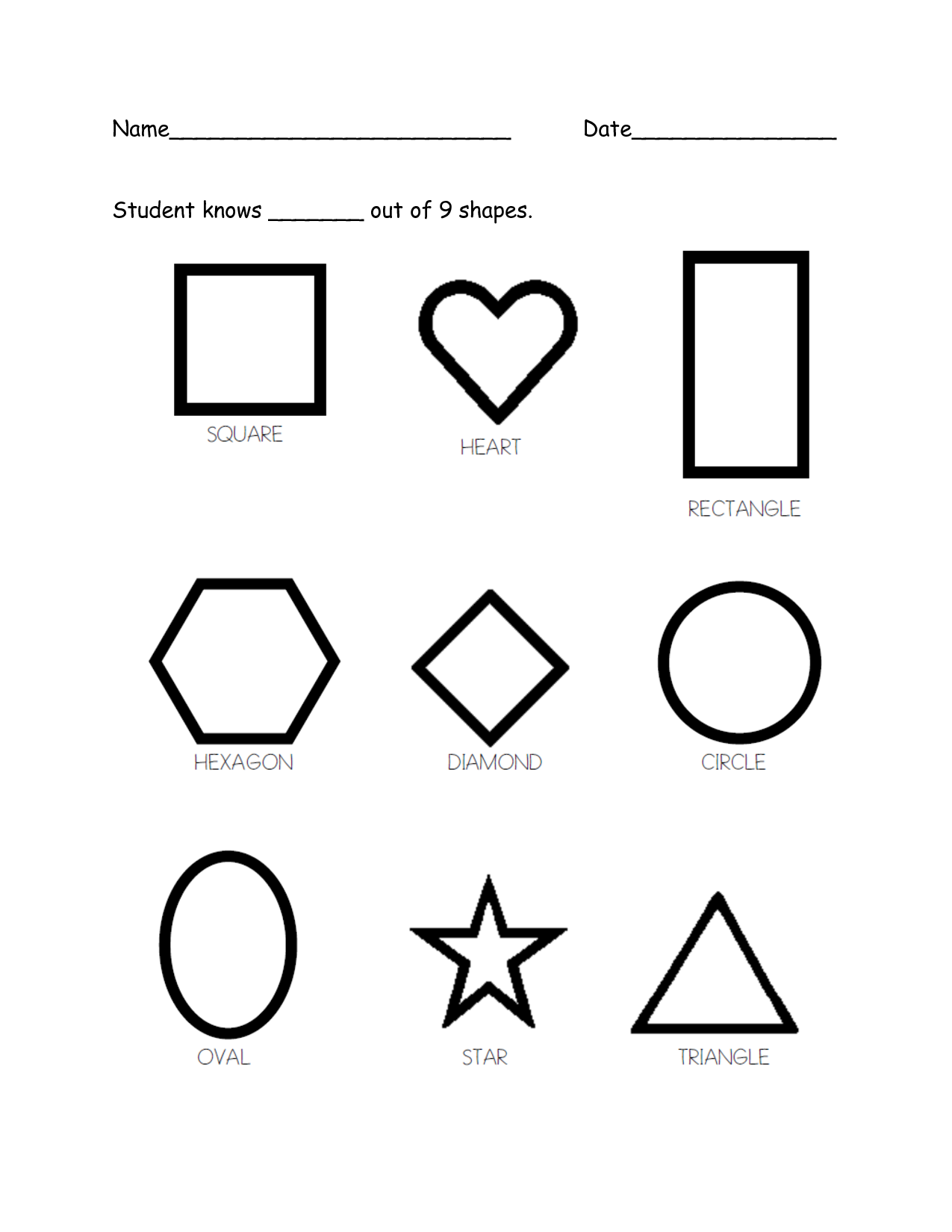Free Assessment Pages For Prek  K Great Blog Too