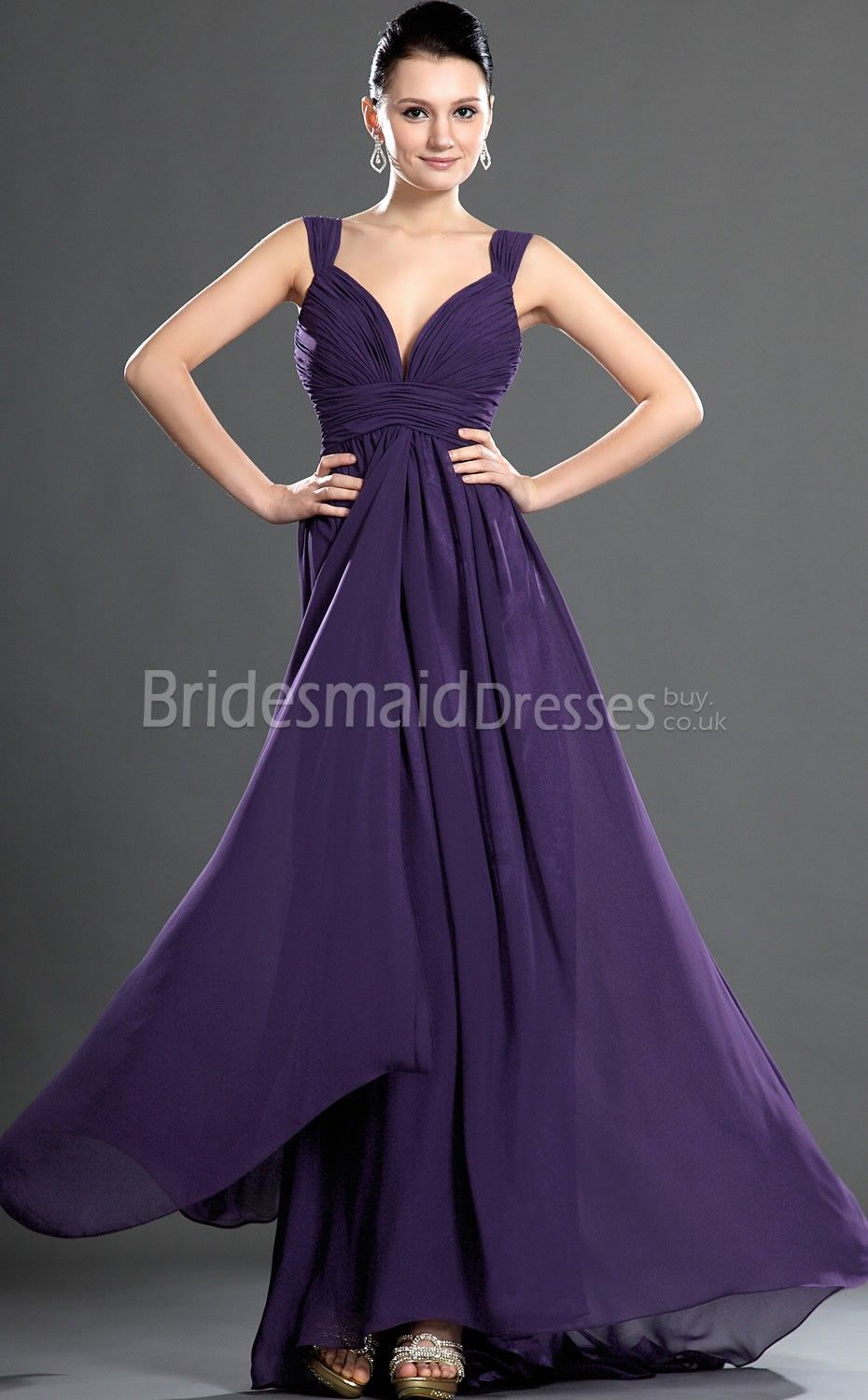 purple bridesmaid dresses just add a belt of bling!!! | Planning for ...