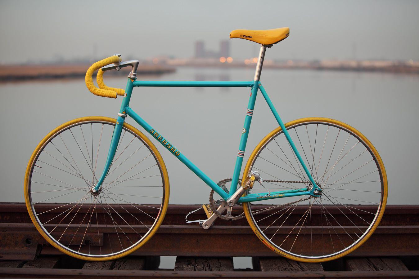 New Fixie Fixed Road Bike Bicycle cycling Saddle Seat Yellow stylish