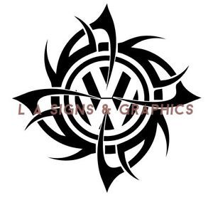 vw volkswagen t2 t4 t5 tribal badge decal graphic sticker. Black Bedroom Furniture Sets. Home Design Ideas