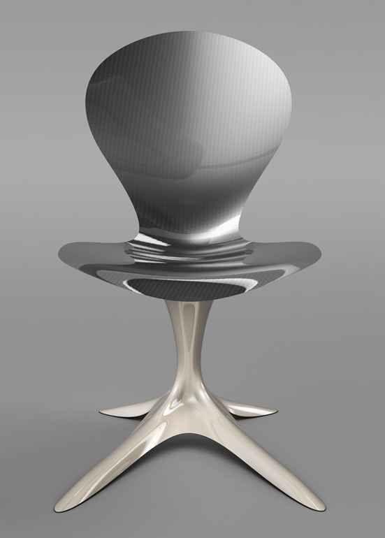 Futuristic Interior Flower Chair Design By Philipp Aduatz
