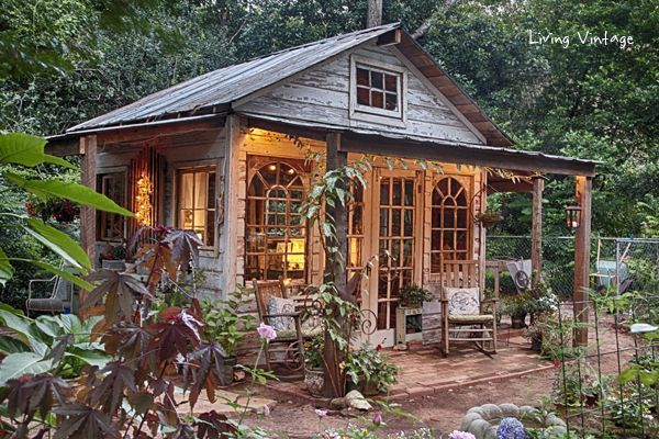 jennys she shed made with reclaimed building materials living vintage - Garden Sheds From Recycled Materials