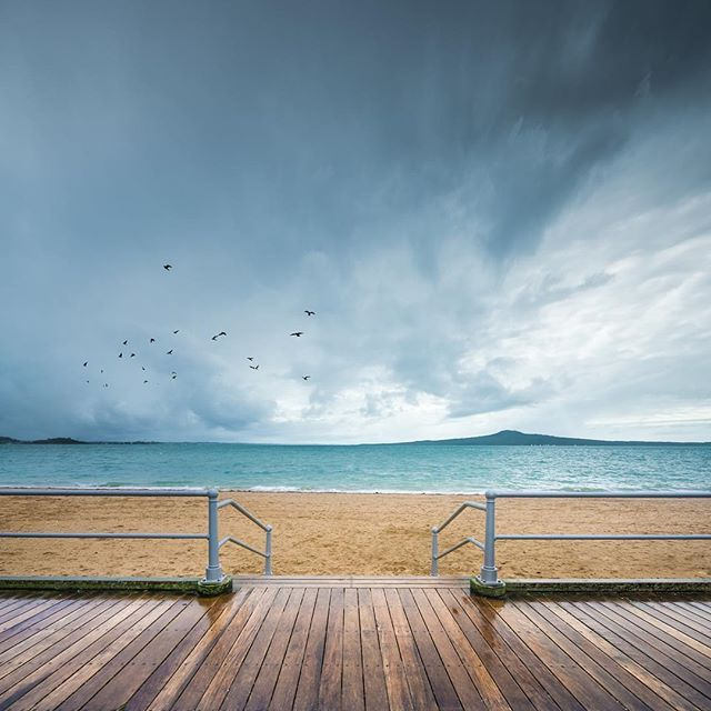 stormy #newzealand #beach scene