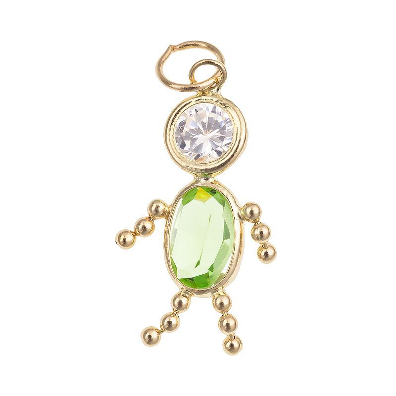 10k Gold Birthstone Babies Boy Charm Multicolor Boy Charm 10k Gold Women Jewelry