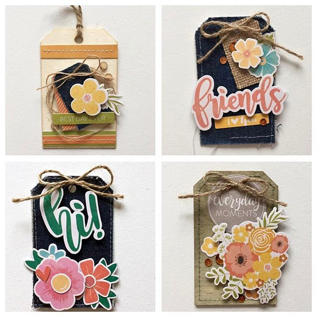 I ❤️ tags! They are fun to make with little bits that are left over from other projects. Perfect for adding to a gift bag as well! Designer @kristinedavidson created this adorable set of tags using our Tag, You're It! collection. #jillibeansoup #tagyoureit #tags #smallbutmighty #makesomeonesmile #crafty