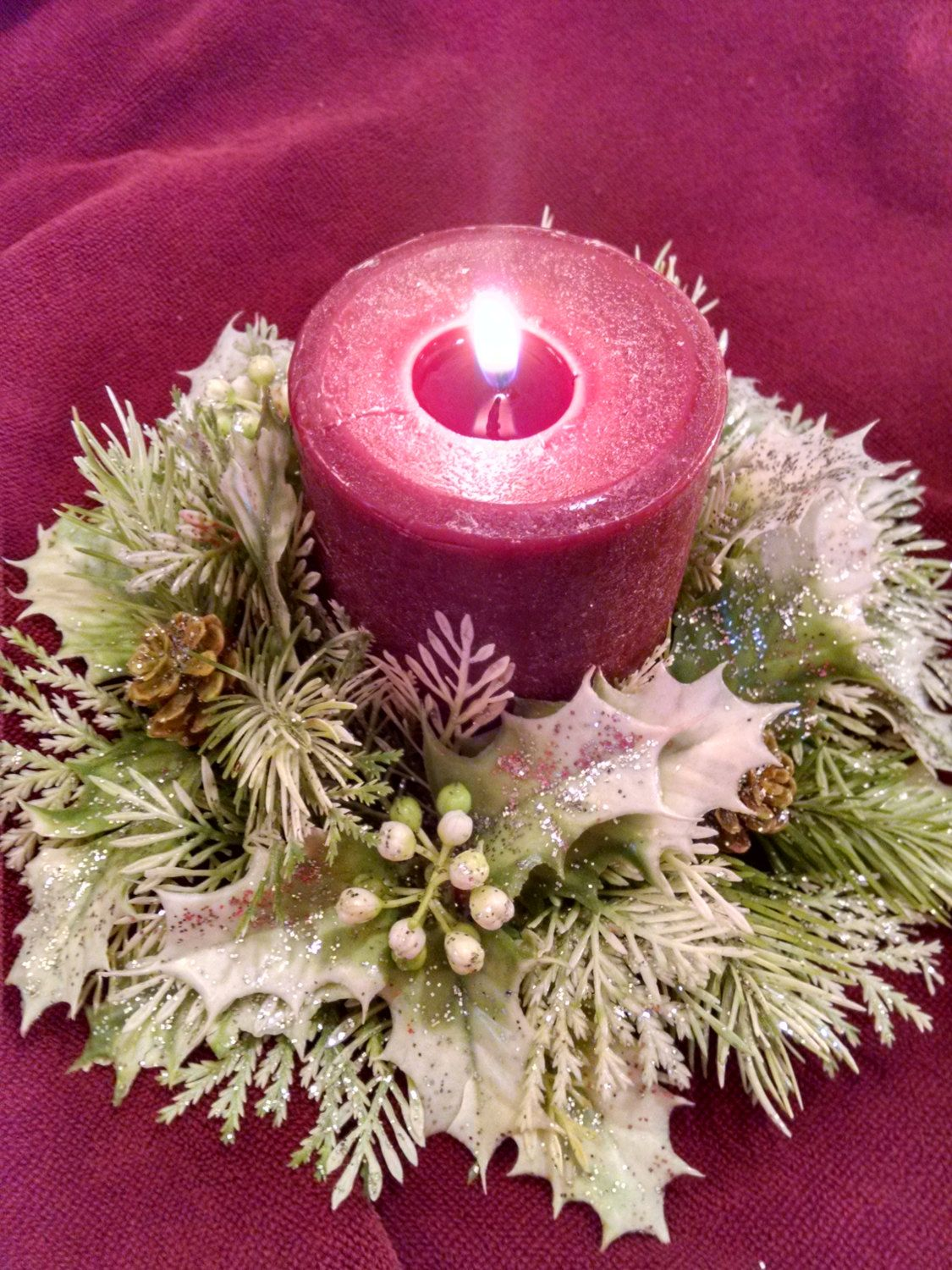 candle ring christmas candle ring vintage christmas candle vintage candle ring holiday - Decorative Christmas Candle Rings