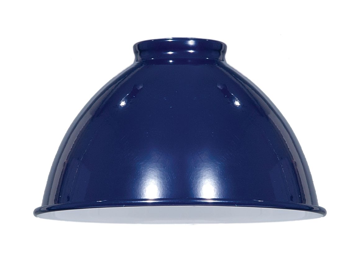 Blue Enamel Industrial Style Metal Dome Shades 08350BL | Antique Lamp Supply