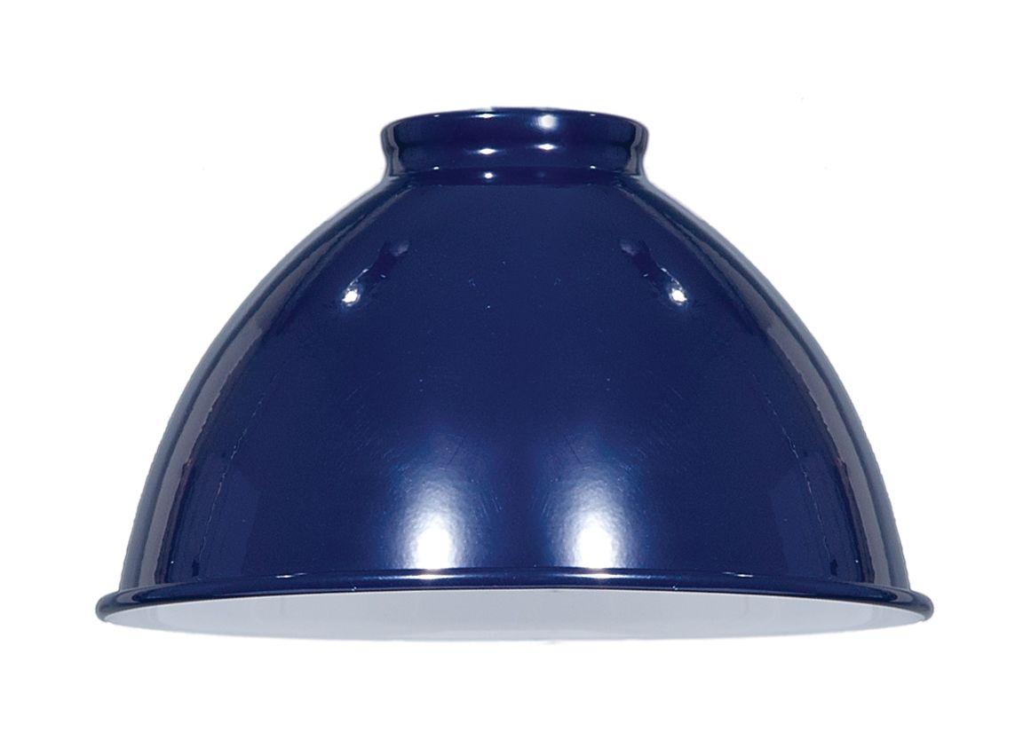 """10 1//4/"""" ~ INDUSTRIAL STYLE ~ Spun Metal Hanging Porcelain Lamp Shade ~ BRASS"""