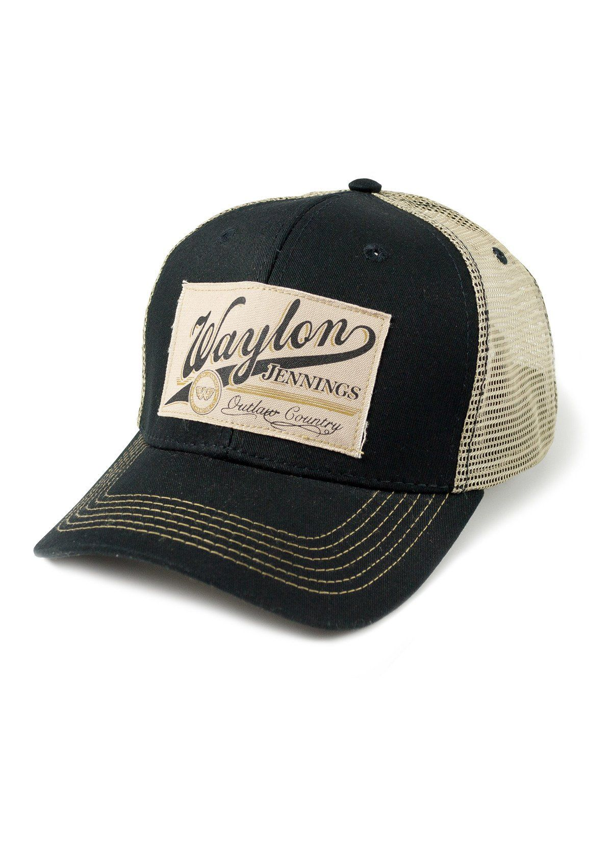 54342c6e6f37e Waylon Jennings Outlaw Country Trucker Hat