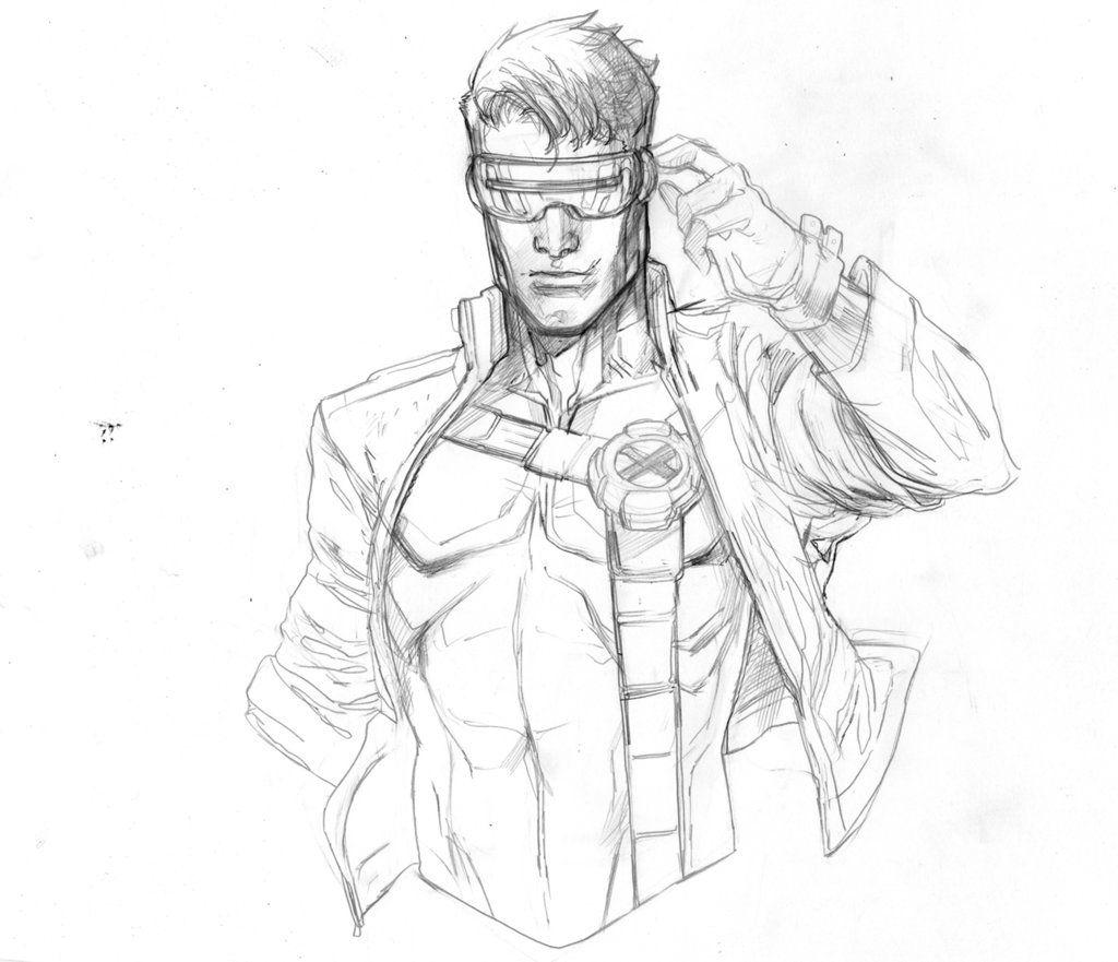 Cyclops Jim Lee By Peter V Nguyen Cyclops Xmen Art Black White Art