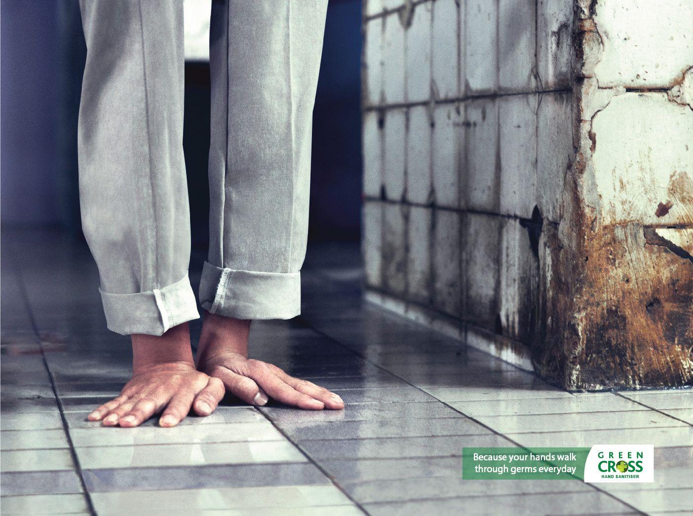 Green Cross Hand Sanitizer Toilet Cross Hands Advertising