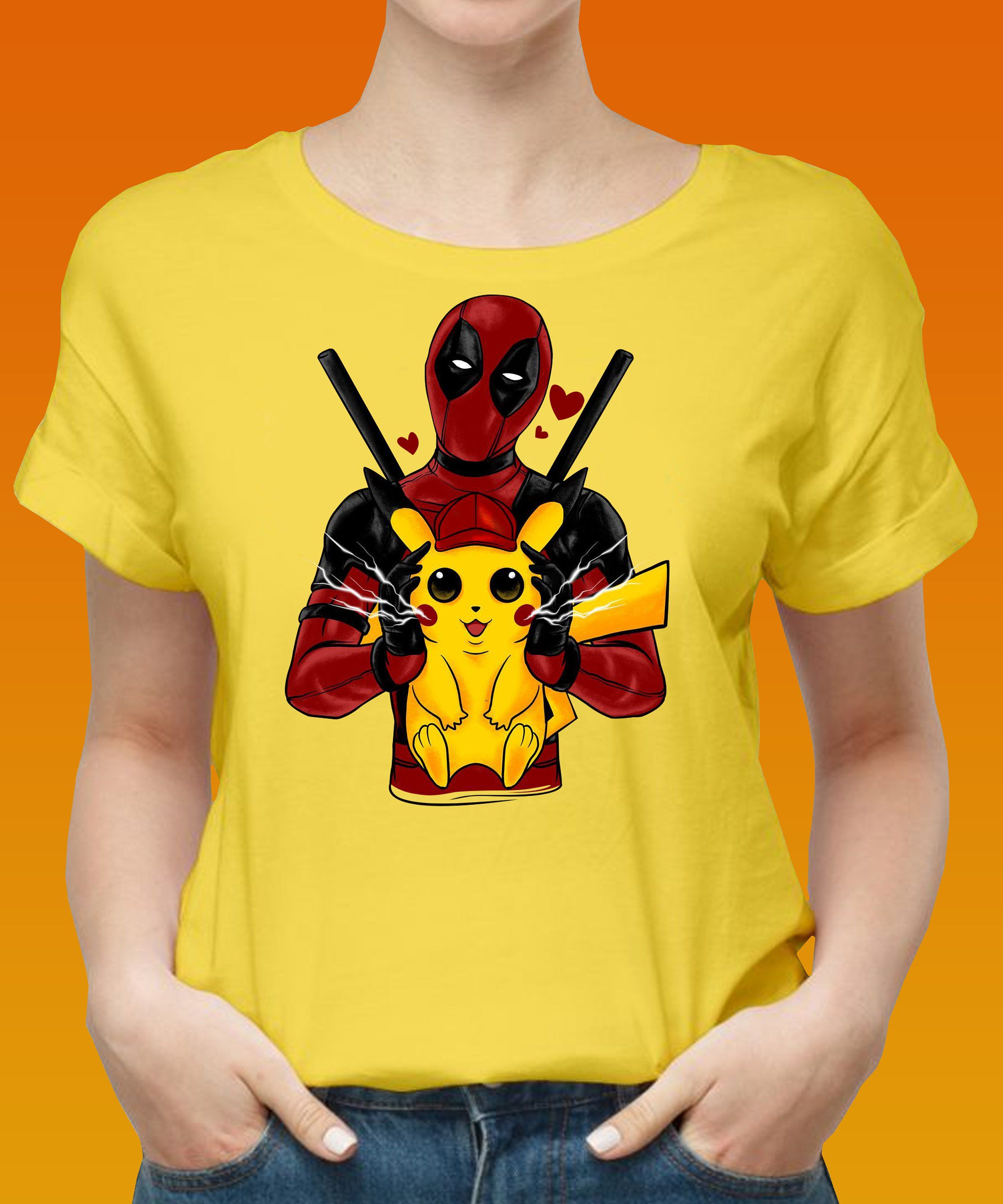 179a40d03 pikachu deadpool in love - pikachu clothing - deadpool birthday Gift  Detective, Pikachu Pokeman Meme