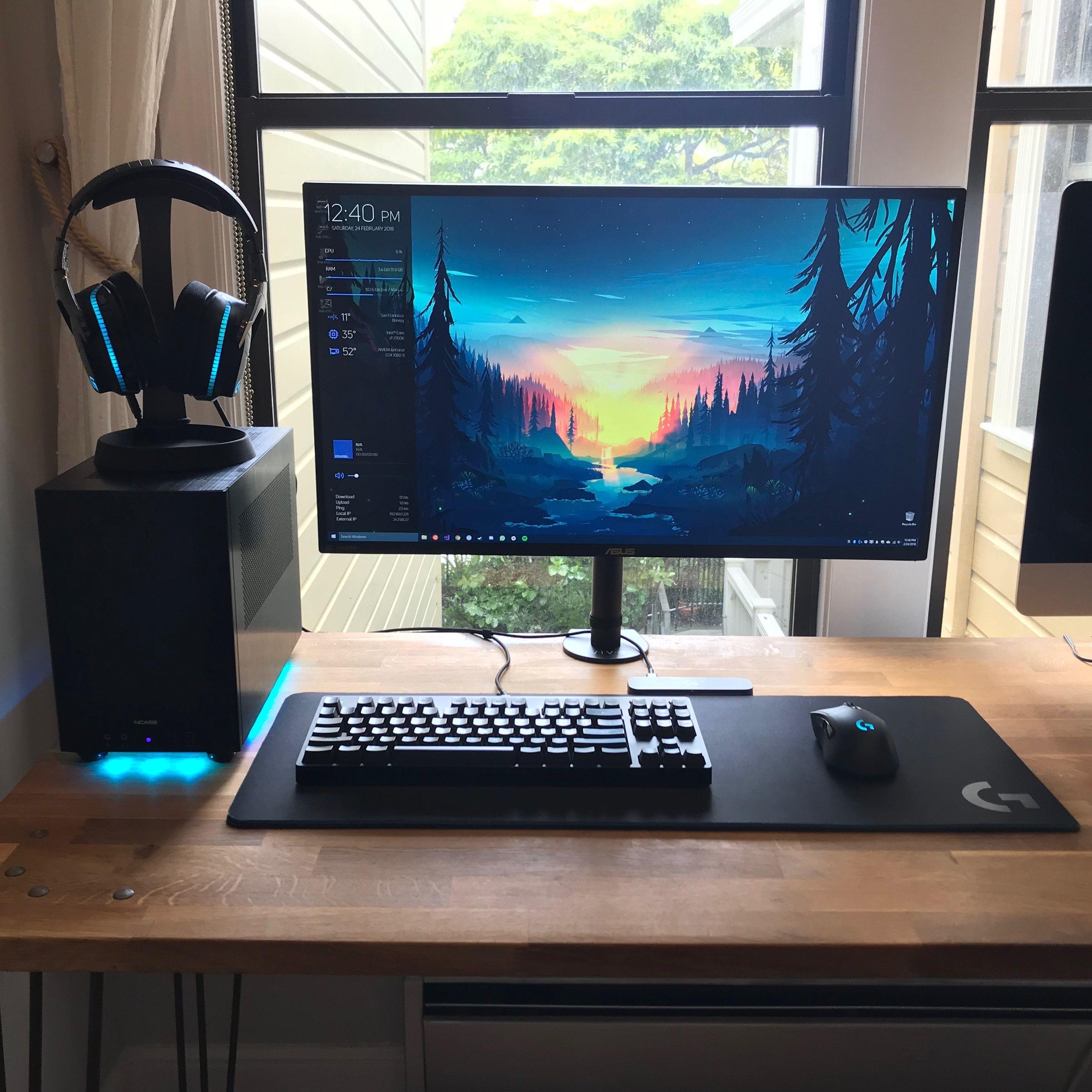 shared desk battlestation desk pinterest desks gaming setup