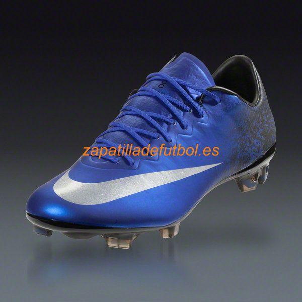 Tacos de futbol Nike Mercurial Vapor X CR7 FG Azul Real Del Corredor Azul Negro  Metalico Plateado 50884980c6bfc