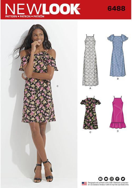 New Look, 6488new | เสื้อ | Pinterest | Patrones