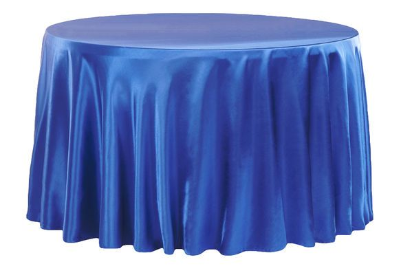 Satin 120 Round Tablecloth Royal Blue 120 Round Tablecloth
