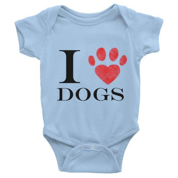 I Love Dogs Infant - One-Piece