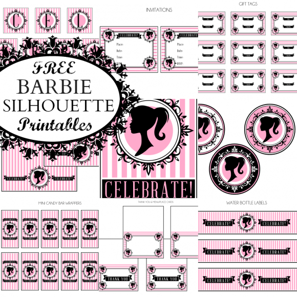 Vintage Barbie parties are so popular, and here's some free printables to help you celebrate! The collection includes: invitations, gift tags, large party circles,