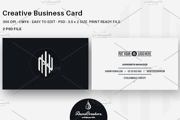 Creative Business Card Templates A Minimal Great Business Card