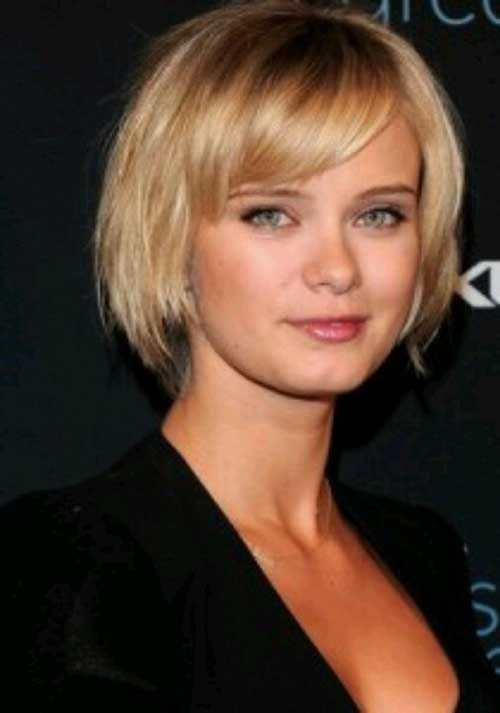 Short Bobs For Round Faces 2014 2015 Bob Haircut And Hairstyle Ideas Short Haircuts With Bangs Short Thin Hair Short Hair With Bangs