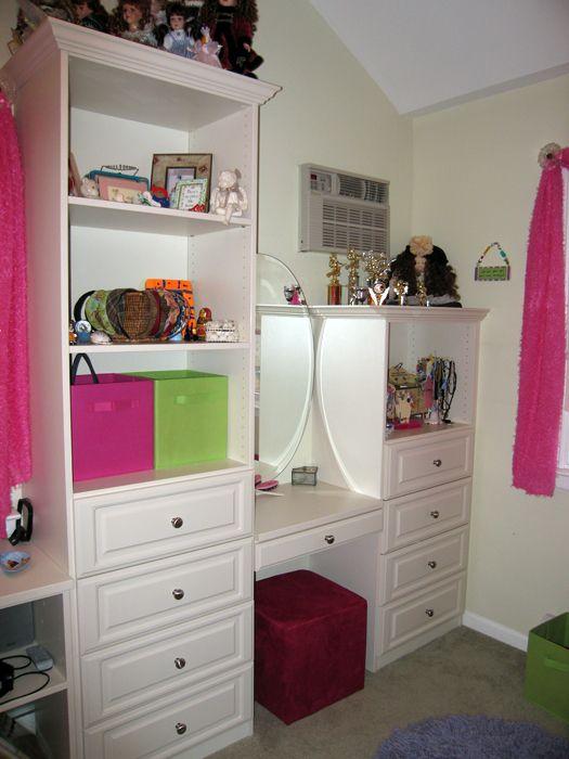 Attirant Vanities In The Closet | Custom Closets Direct