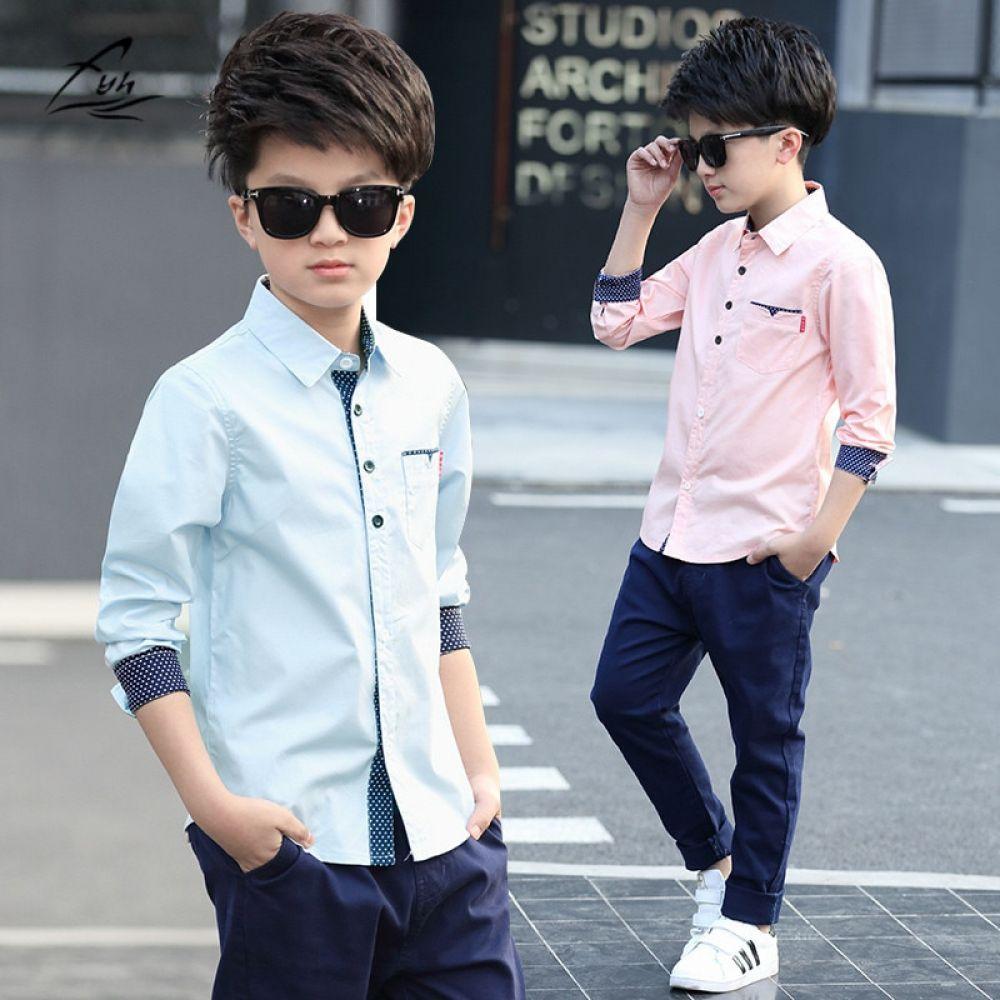 Kidshopedia Boys Long Sleeve Shirts Boys Fashion Spring Boys Shirts [ 1000 x 1000 Pixel ]