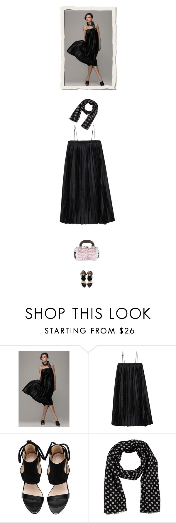 """pleated dress"" by bodangela ❤ liked on Polyvore featuring ONLY, Julien David, women's clothing, women, female, woman, misses and juniors"