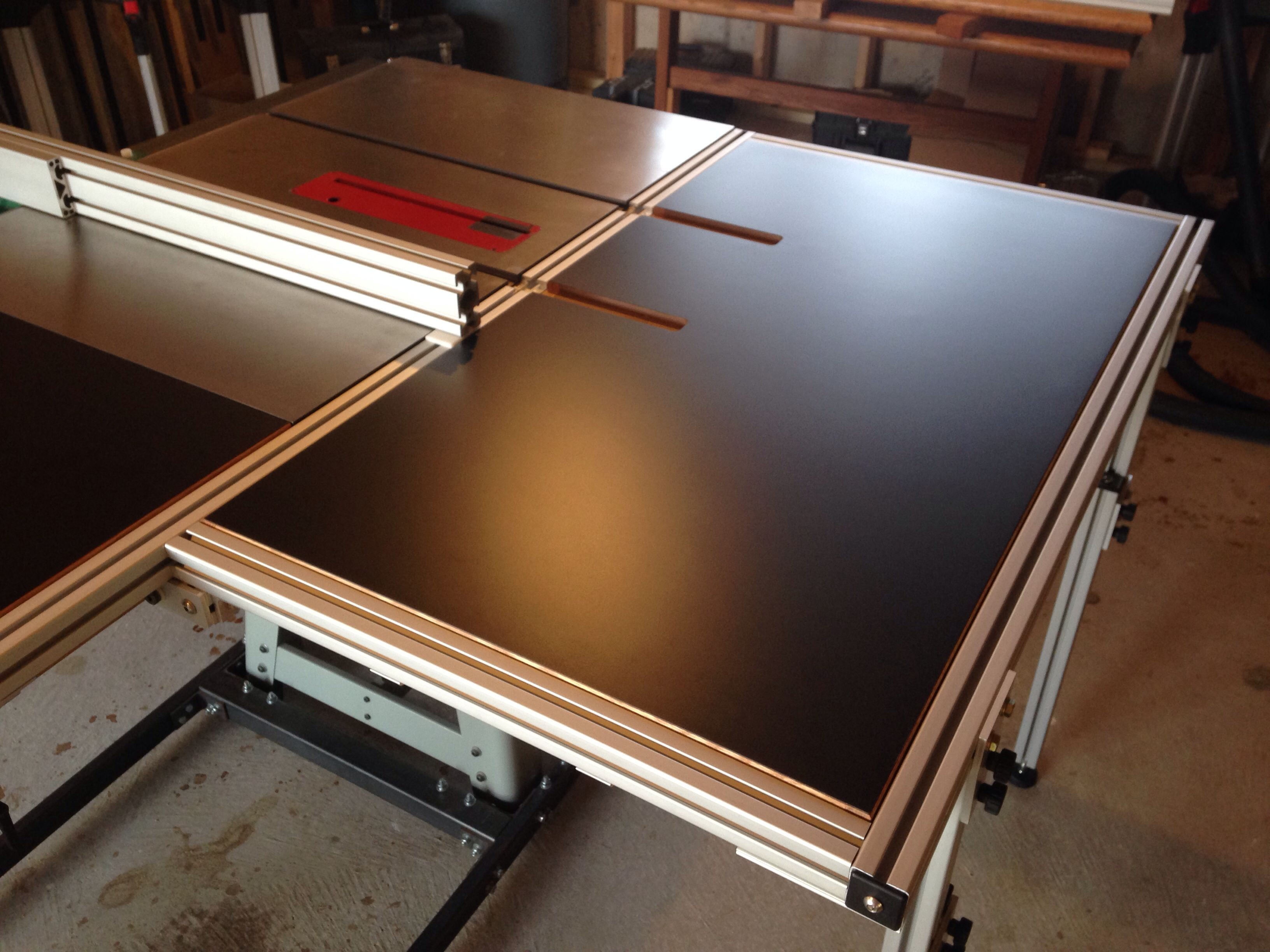 Table Saw Folding Outfeed Table Woodworking In 2019